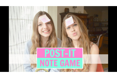 POST-IT NOTE GAME avec Lilouxmakeup - YouTube