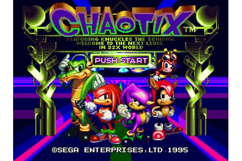 Sega 32X Longplay [001] Knuckles Chaotix - YouTube