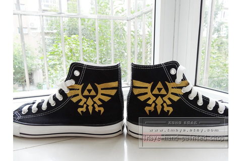 Game Legend of Zelda painted shoes