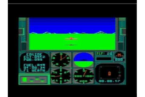 acrojet - advanced flight simulator for Amstrad CPC - YouTube