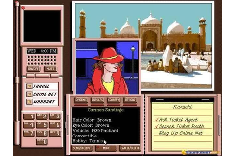 Where in the world is Carmen Sandiego computer game ...