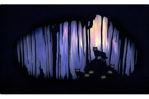 Wolves cave by just-a-wizard on DeviantArt
