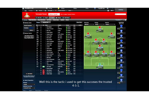 Football manager 2012 *Best tactic *For most of the teams ...