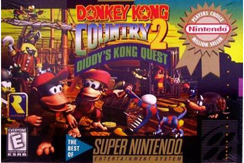 Donkey Kong Country 2: Diddy's Kong Quest (1995) SNES box ...