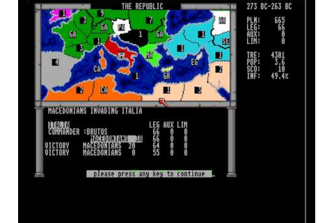 annals of rome for Amiga - YouTube