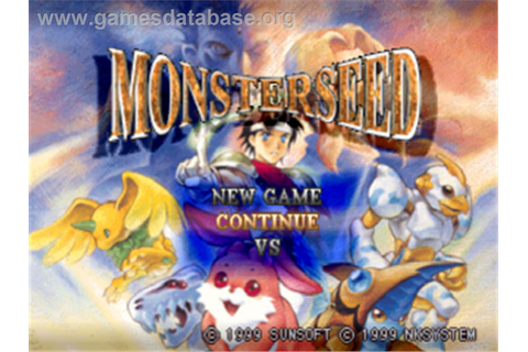 Monster Seed - Sony Playstation - Games Database