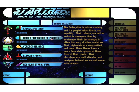 Star Trek: The Next Generation - Birth of the Federation ...
