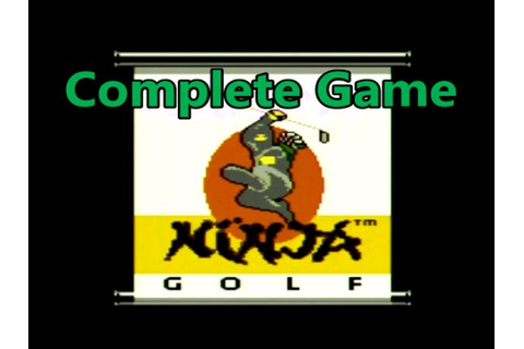 Ninja Golf Complete Game Playthrough Atari 7800 - The No ...