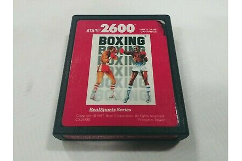 RealSports Boxing 1987 Game Cartridge for the Atari 2600 ...
