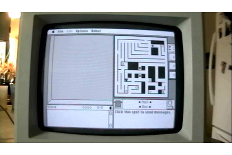 (MAZE WARS) Vintage Apple Macintosh Video Games - YouTube