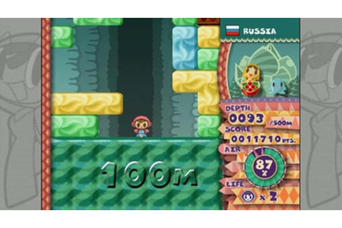 Mr. Driller W (WiiWare) Screenshots