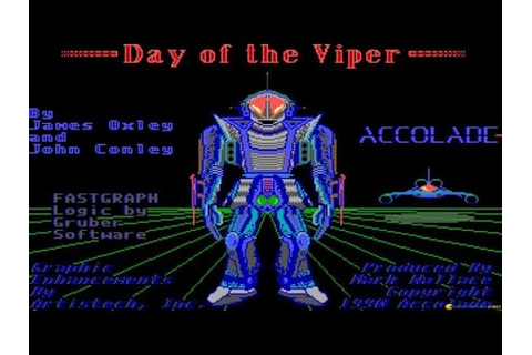 Day Of The Viper - 1989 PC Game, introduction and gameplay ...
