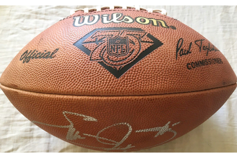 Emmitt Smith autographed Wilson NFL 75th Anniversary 1994 ...