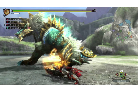 Monster Hunter 3 Ultimate - Zinogre Gameplay (Wii U) - YouTube