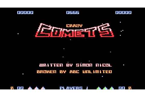 Crazy Comets (Main Theme) by Rob Hubbard - Commodore 64 ...