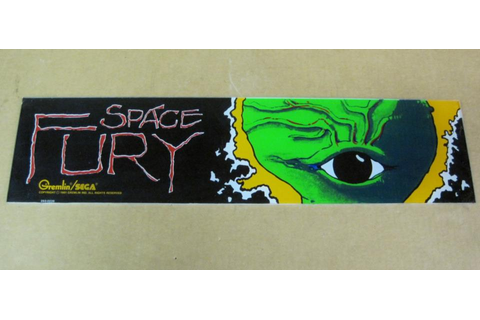 Space Fury Sega Arcade Game Marquee, Vector Game for sale ...