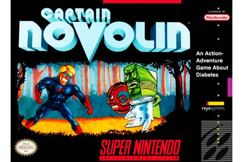 Captain Novolin SNES Super Nintendo