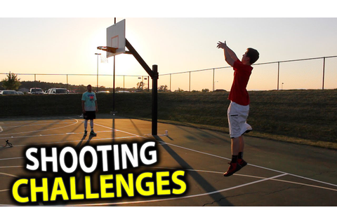 BASKETBALL SHOOTING CHALLENGES!! - YouTube