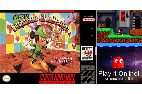 Play Mickey's Ultimate Challenge on Super Nintendo