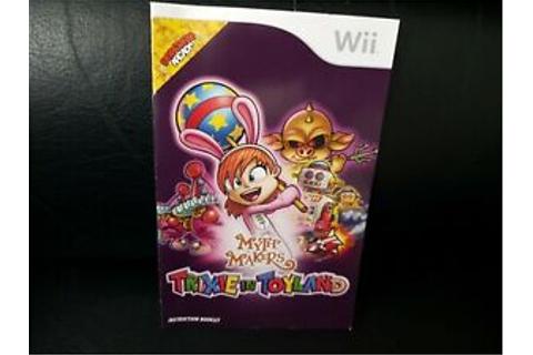 Myth Makers: Trixie In Toyland, Nintendo Wii Game Manual ...