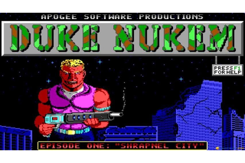 Duke Nukem gameplay (PC Game, 1991) - YouTube