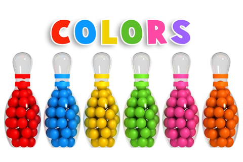 Colors for Children to Learn with 3D Bowling Game ...