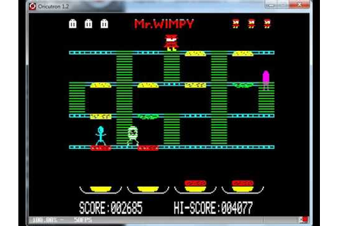 Mr. Wimpy The Hamburger Game - Oric 1-Atmos Tangerine ...