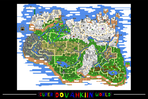 Retro Gamer Blog — Skyrim map in the style of Super Mario ...