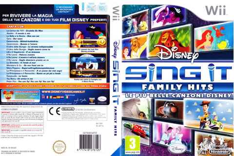 Disney Sing It: Family Hits (2010) PlayStation 3 box cover ...