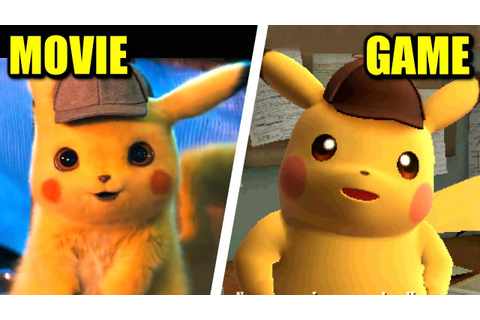 Pokémon Detective Pikachu Movie VS Game (Comparison) - YouTube