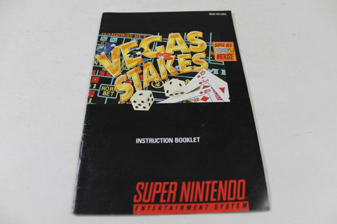 Manual - Vegas Stakes - Snes Super Nintendo