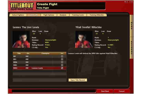 All Title Bout Championship Boxing Screenshots for PC
