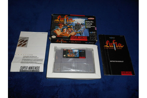 Lufia & The Fortress Of Doom Complete Super Nintendo Game ...