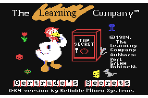 Gertrude's Secrets (1984) by The Learning Company C64 game