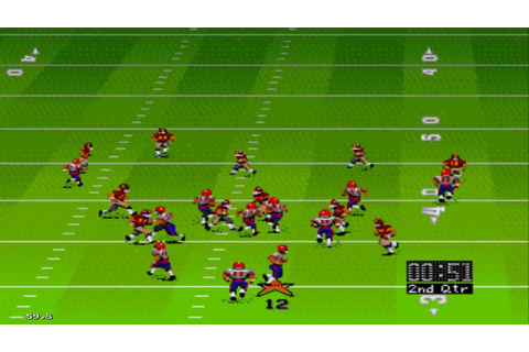 John Madden Football '92 Sega Genesis Gameplay HD - YouTube