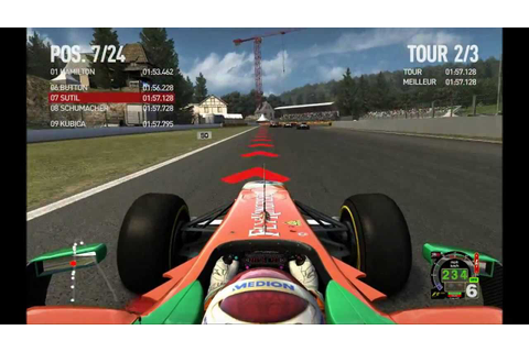 F1 2010 MOD F1 2011 GAME FORCE INDIA RACE AT SPA - YouTube