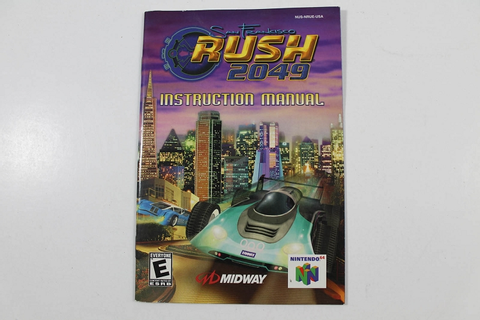 Manual - San Francisco Rush 2049 - Nintendo N64
