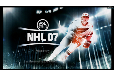 NHL 07 for Microsoft Xbox 360 - The Video Games Museum
