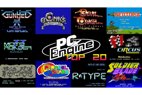 PC Engine/Turbo Grafx-16 Top 20 Games - YouTube