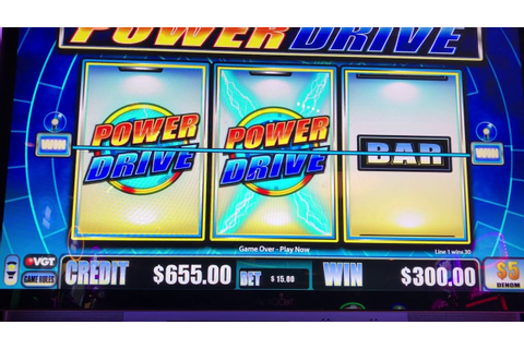 "VGT Slots ""Power Drive"" New Game Lot Of Play Choctaw ..."