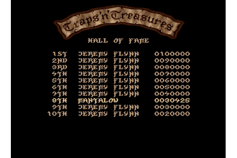 Traps 'n' Treasures (Amiga Emulated) high score by Mantalow