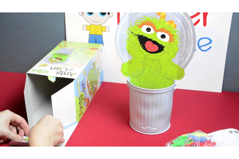Sesame Street Oscar the Grouch Ants in the Can Game - YouTube