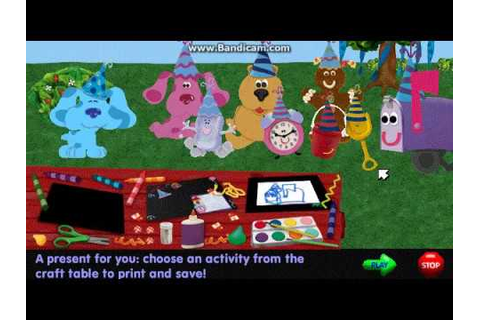 Blue's Clues - Blue's Birthday! (1999 Shockwave Game ...