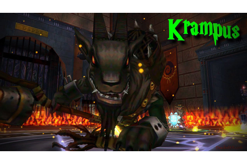 Wizard101 Krampus Trained Spell from Loremaster - YouTube