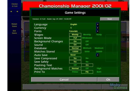 Championship Manager Season 01/02 Download Free Full Game | Speed-New