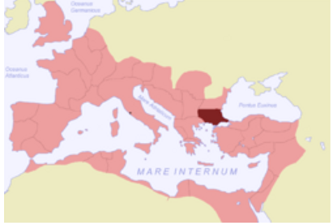 The province of Thracia within the Roman Empire, c. 120 AD