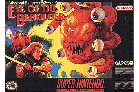 ***DUNGEONS+DRAGONS EYE OF THE BEHOLDER SNES SUPER ...