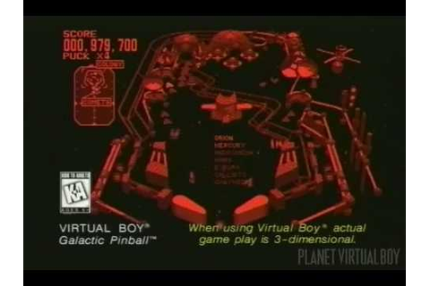 Galactic Pinball Promo (Virtual Boy) - YouTube