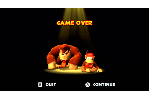 Donkey Kong Country Returns - Game Over - YouTube