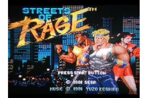 Classic Sega Game Streets of Rage on PS3 in HD 720p - YouTube